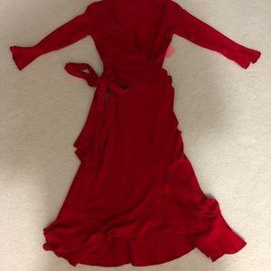 Isabella Oliver Dresses - Isabella Oliver Ruffle Wrap Maternity Dress